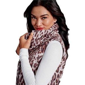 Cabi #3120 Juliet Leopard Print Puffer Vest